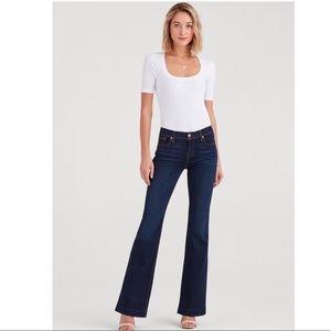 Seven 7 Flare Bootcut  Dark Wash Blue Jeans 8